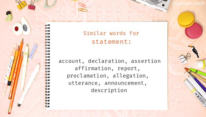 Statement Synonyms