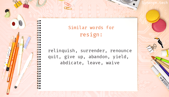 Resign Synonyms