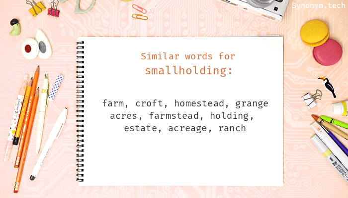 Smallholding Synonyms