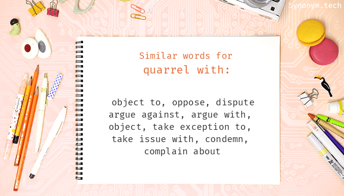 Quarrel with Synonyms