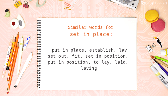 Put In Place Synonym Www Bilderbeste Com