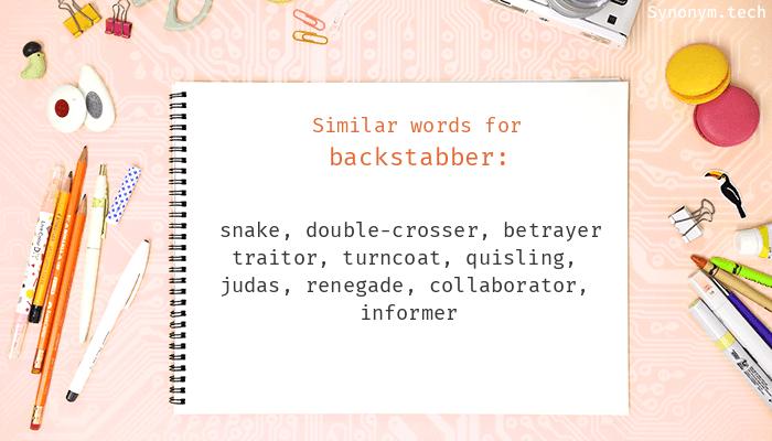 Backstabber Synonyms