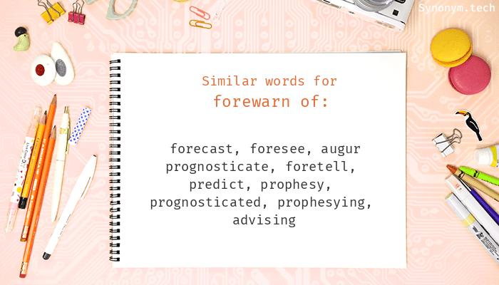 Forewarn of Synonyms