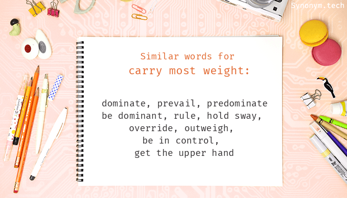 Carry most weight Synonyms