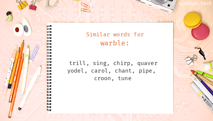 Warble Synonyms