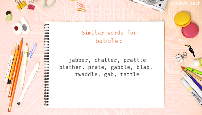 Babble Synonyms