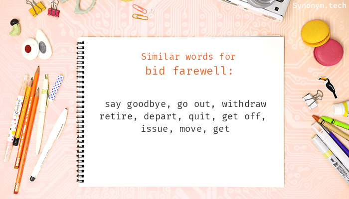 Bid Farewell Synonyms That Belongs To Phrasal Verbs