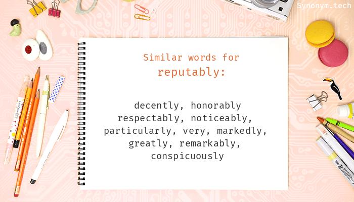 Reputably Synonyms