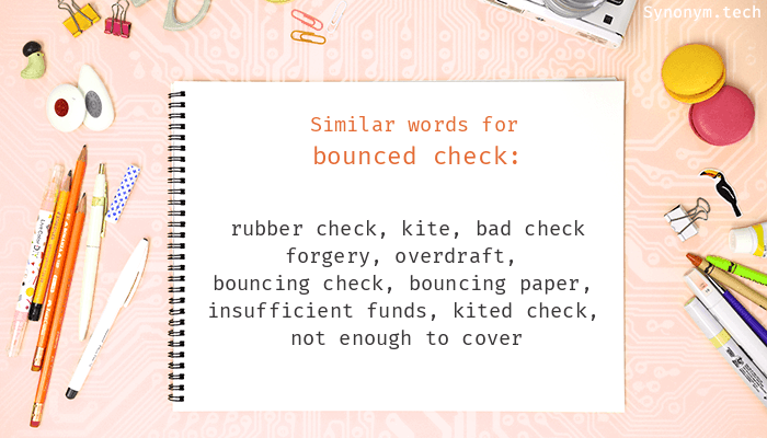 Bounced check Synonyms