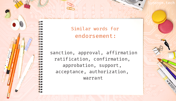 Endorsement Synonyms