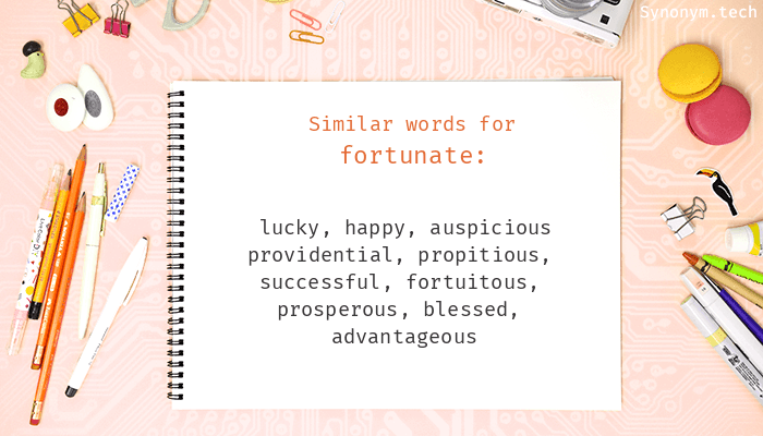 Fortunate Synonyms