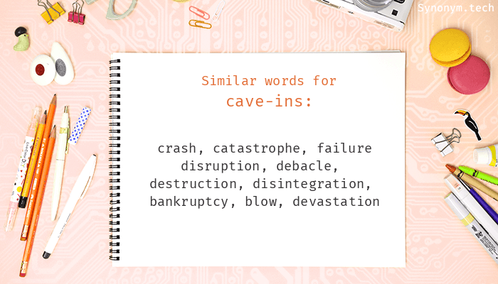 Cave-ins Synonyms