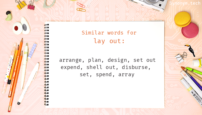 Lay out Synonyms