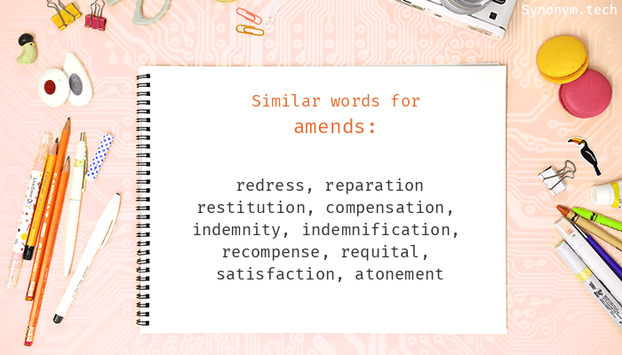 Synonyms for Amends