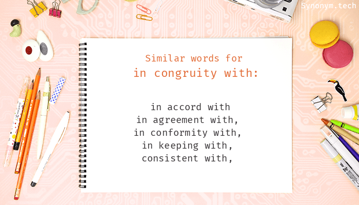 In Congruity With Synonyms Similar Word For In Congruity With