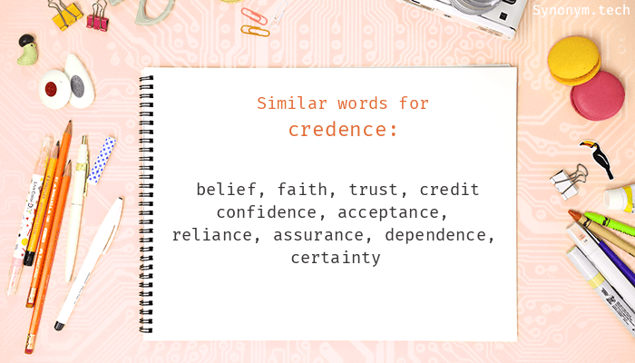 Credence Synonyms