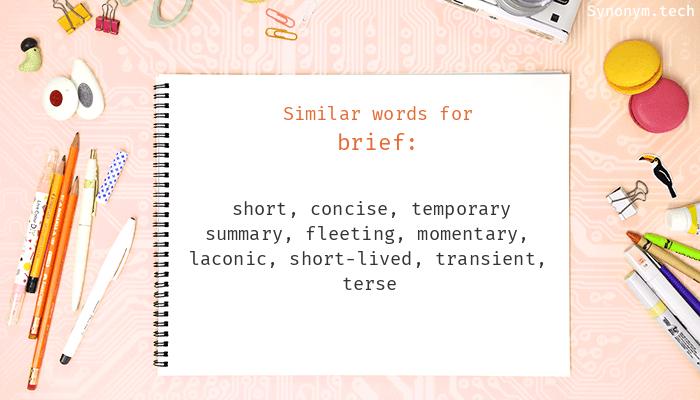 Brief Synonyms