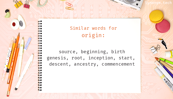 Synonyms for Origin