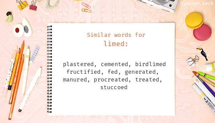 Limed Synonyms