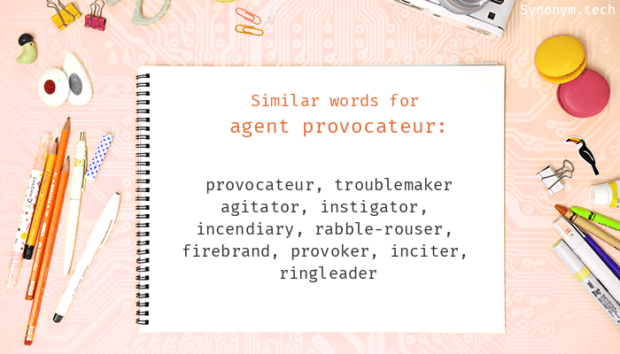Agent provocateur Synonyms