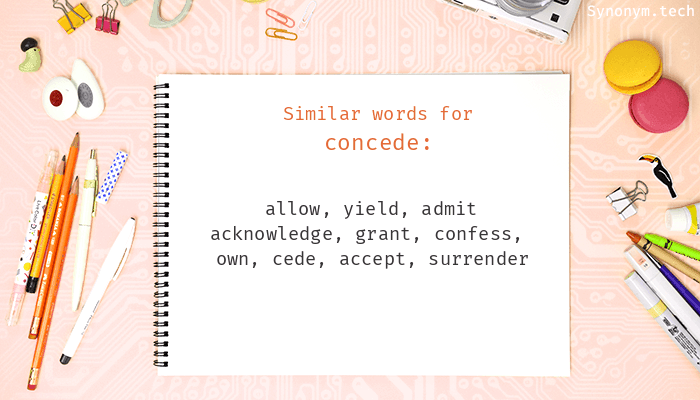 Concede Synonyms