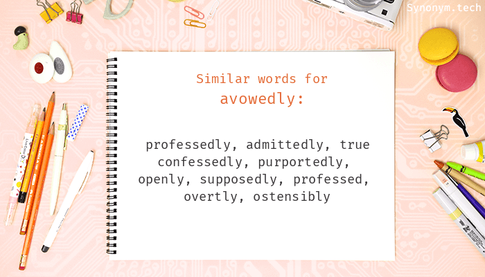 Avowedly Synonyms