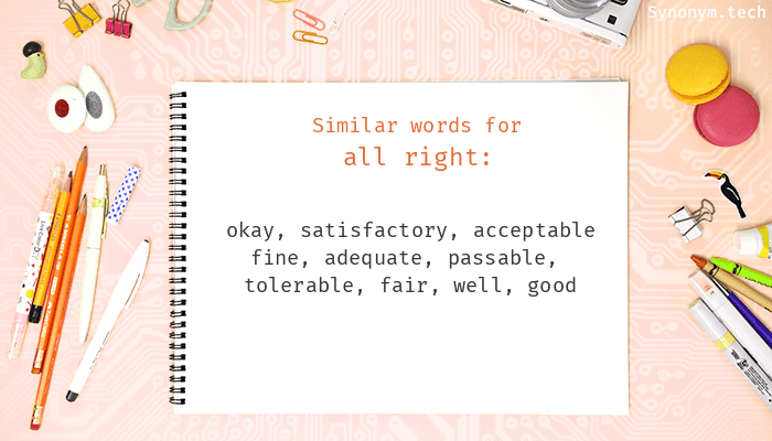 All right Synonyms