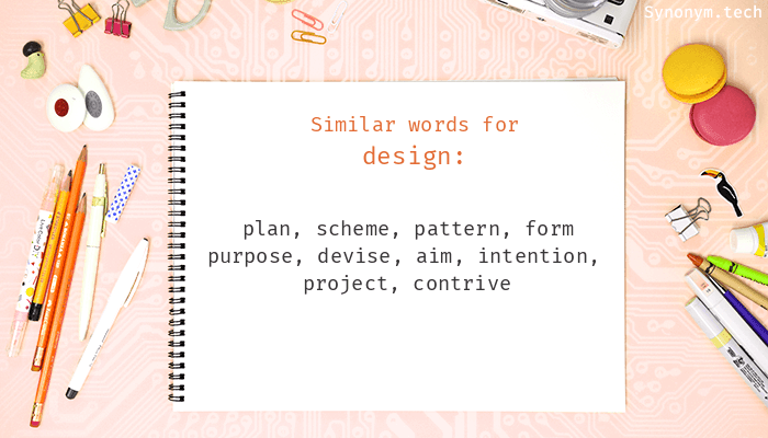 design synonyms that belongs to nouns