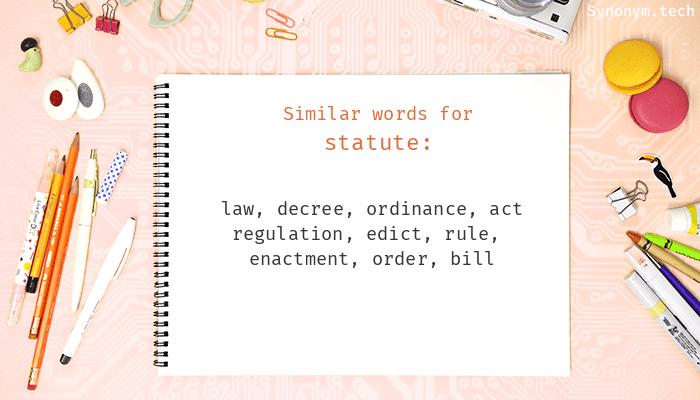 Statute Synonyms