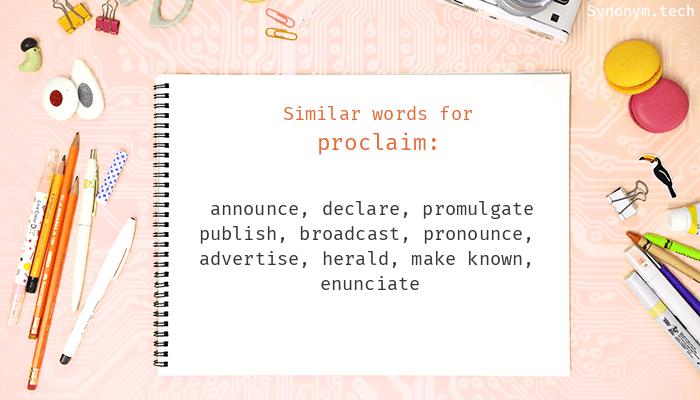 Proclaim Synonyms