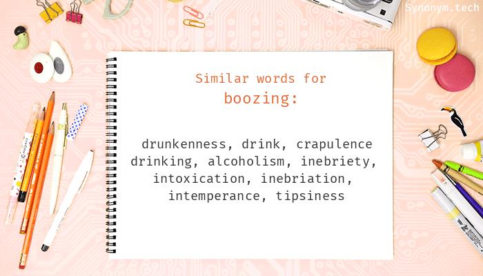 Boozing Synonyms