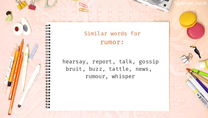 Rumor Synonyms