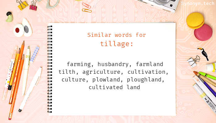 Tillage Synonyms