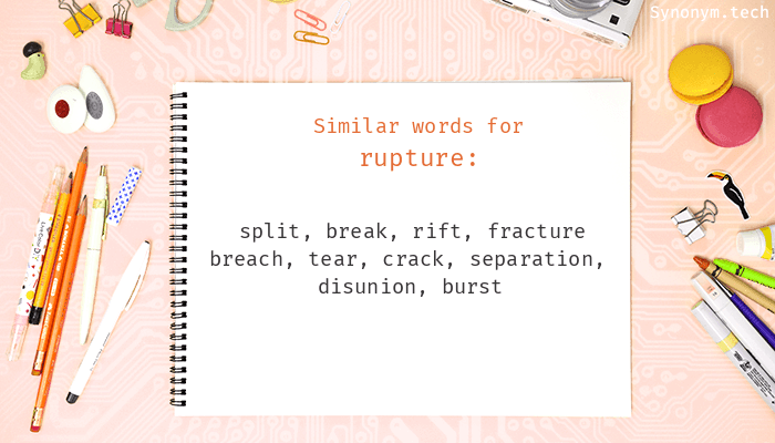 Rupture Synonyms