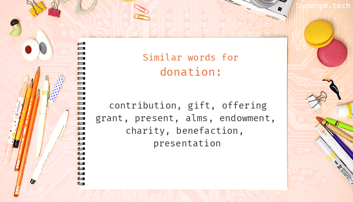 Synonyms for Donation