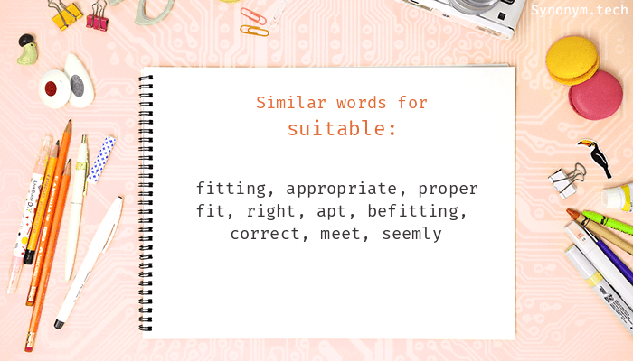 Suitable Synonyms