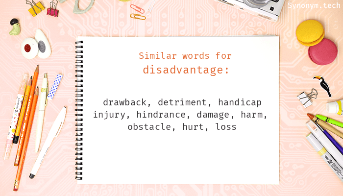 Disadvantage Synonyms That Belongs To Phrasal Verbs