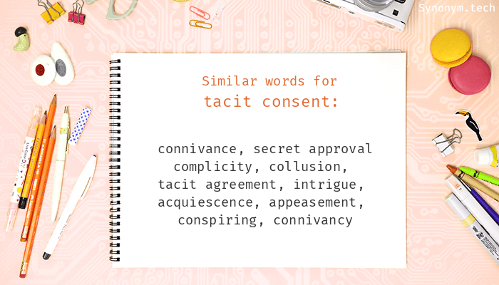 Tacit Consent Synonyms That Belongs To Nouns
