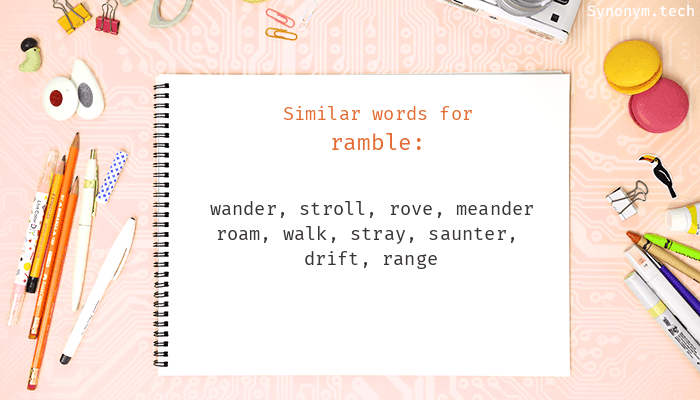 Synonyms for Ramble