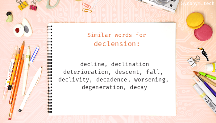 Declension Synonyms