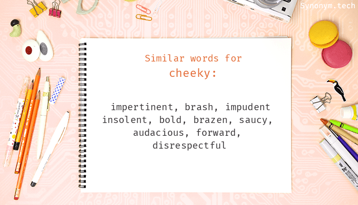 Cheeky synonyms that belongs to phrasal verbs