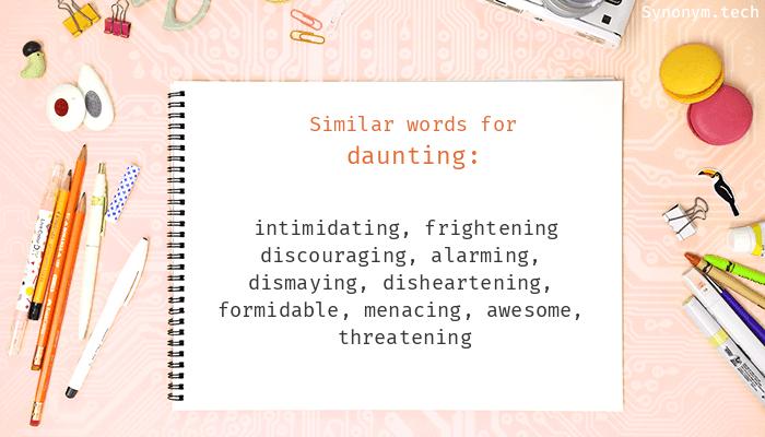 Daunting Synonyms