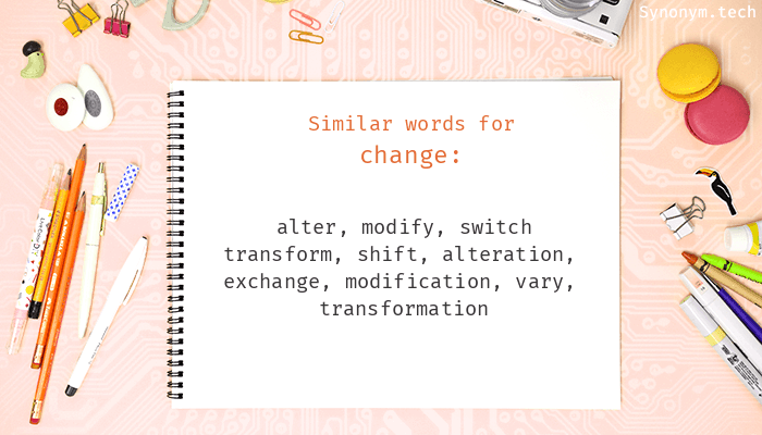 Change Synonyms