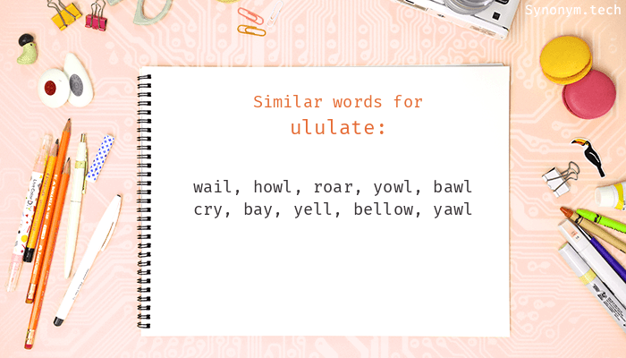 Ululate Synonyms