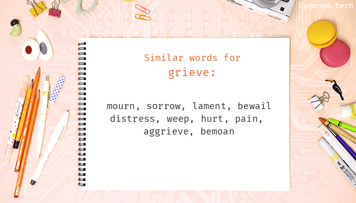 Grieve Synonyms