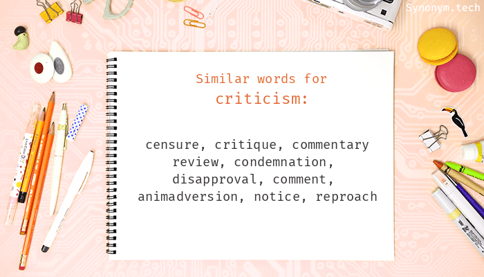 Criticism Synonyms  Similar word for Criticism
