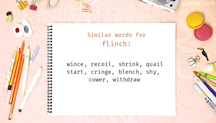 Flinch Synonyms