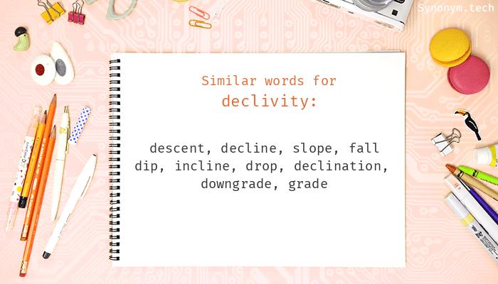 Declivity Synonyms