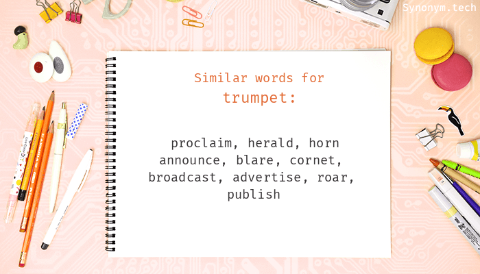 Trumpet Synonyms