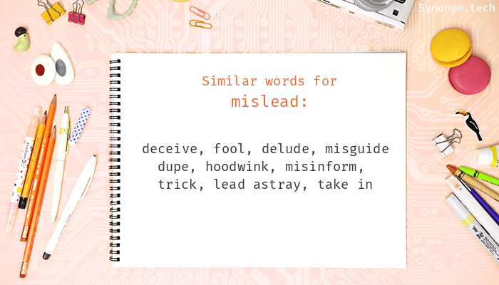 Mislead Synonyms